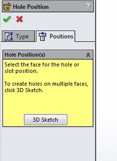 Solidworks: Using Holewizard on Curved Surfaces