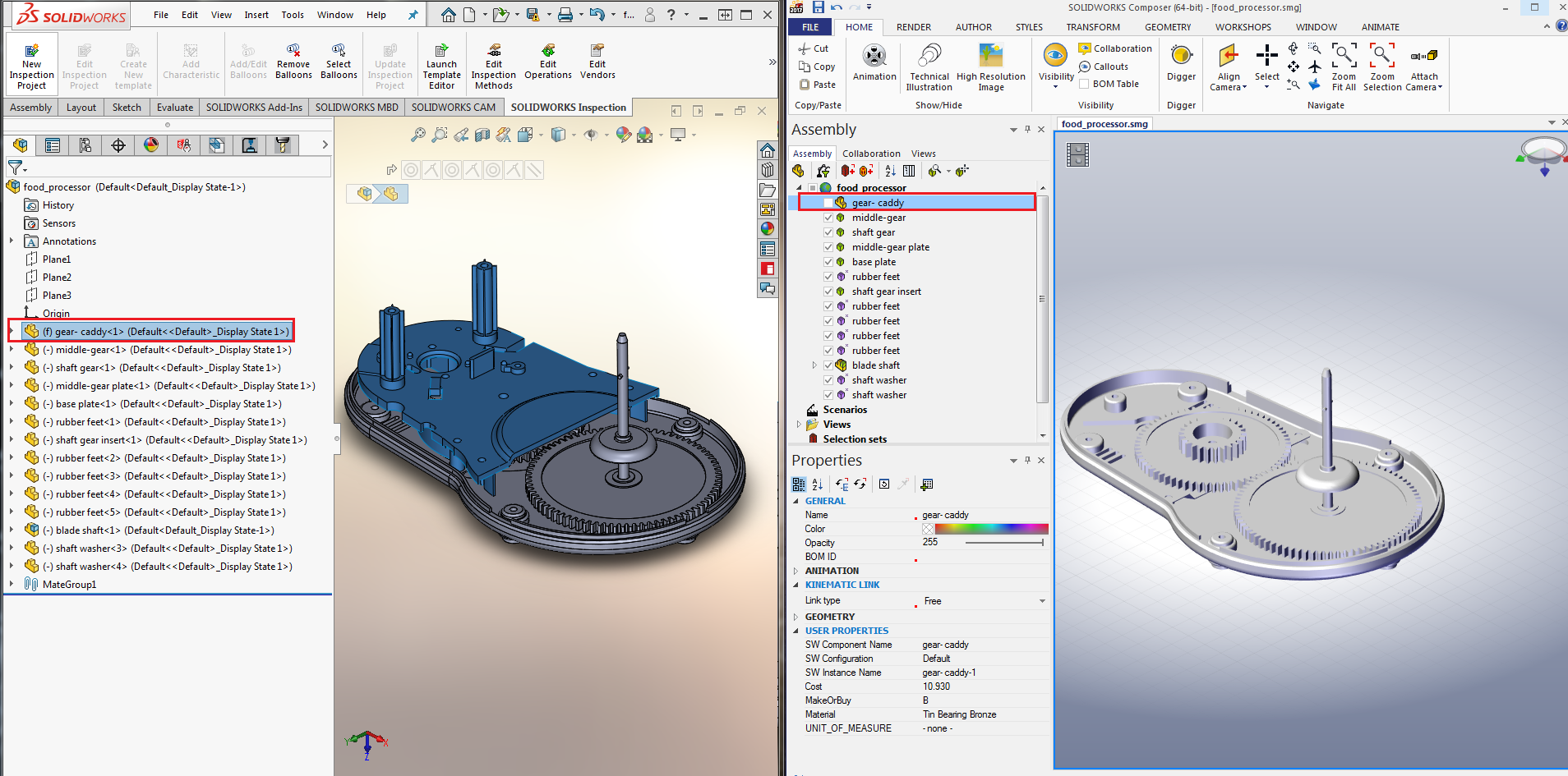 Import/Export surface in SOLIDWORKS Composer