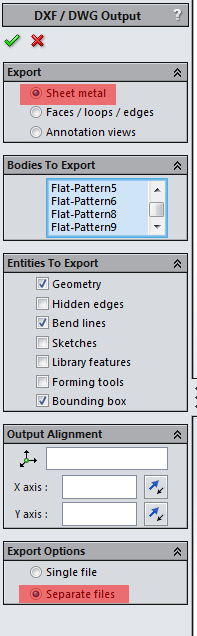 Exporting multi body sheet-metal part to DXF/DWG files
