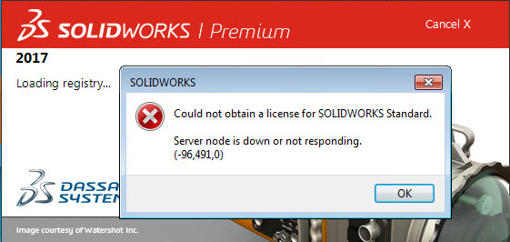 Troubleshooting the SOLIDWORKS network licence manager
