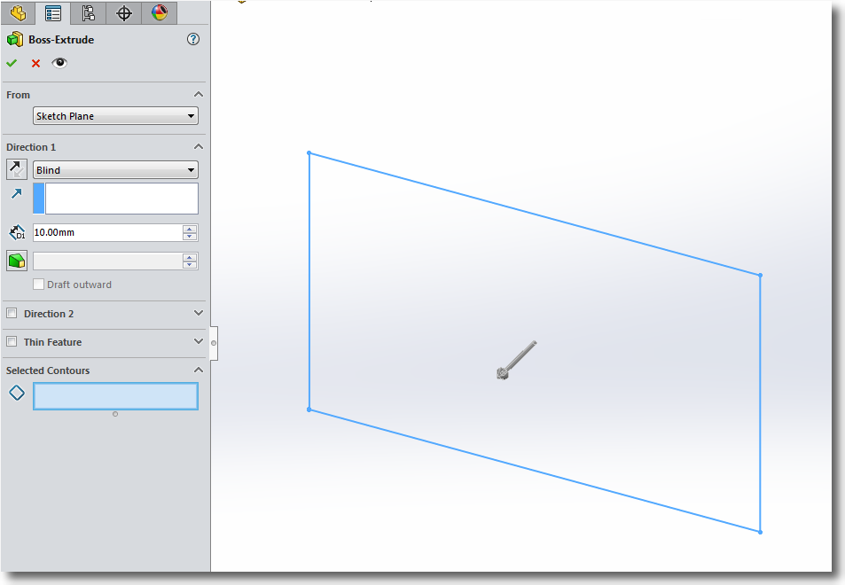 SOLIDWORKS 2017 Sketch Enhancement – Shaded sketch contours