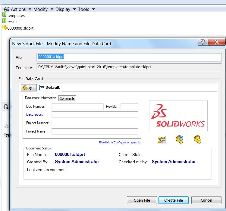 Generating SOLIDWORKS files in the vault using serial numbers – PDM ...