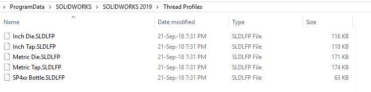 How to add a custom size thread