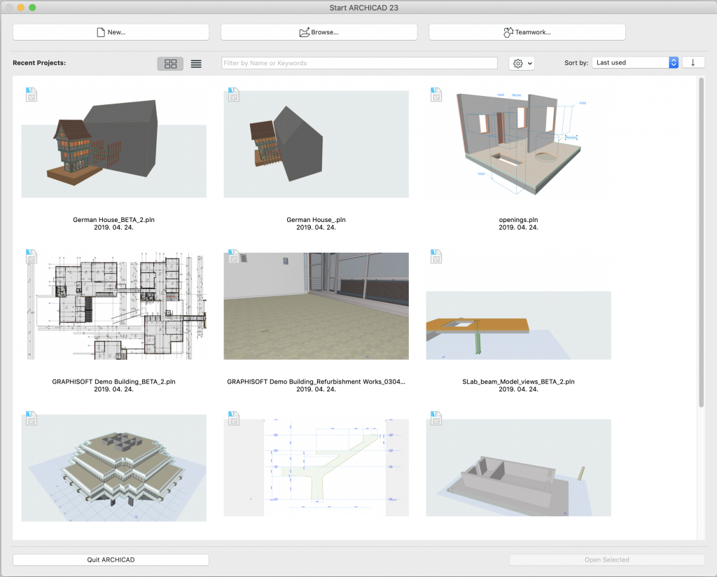 23 days of archicad 23: startup dialog