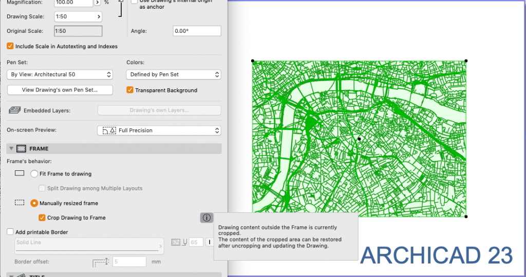 23 days of archicad 23: intelligent drawing updates