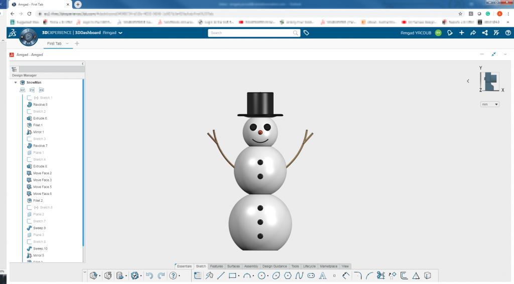 Snowman xdesign 3dexperince